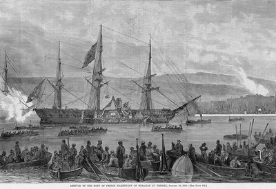 Arrival of the body of Prince Maximillian of Miramar at Trieste, January 16, 1868 Wall Art & Canvas Prints by Corbis