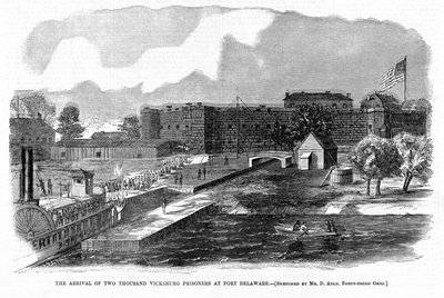 The Arrival of Two Thousand Vicksburg Prisoners at Fort Delaware Postcards, Greetings Cards, Art Prints, Canvas, Framed Pictures & Wall Art by Corbis