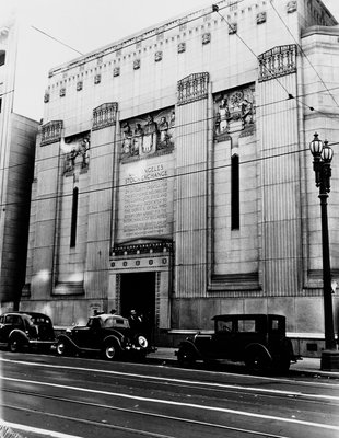 Facade of the Los Angeles Stock Exchange Wall Art & Canvas Prints by Corbis