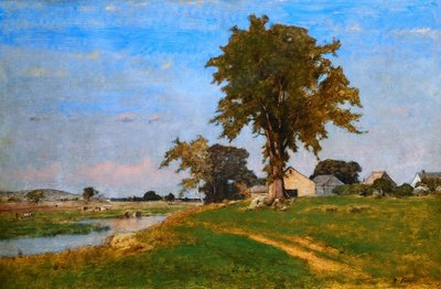 Old Elm at Medfield Wall Art & Canvas Prints by George Inness