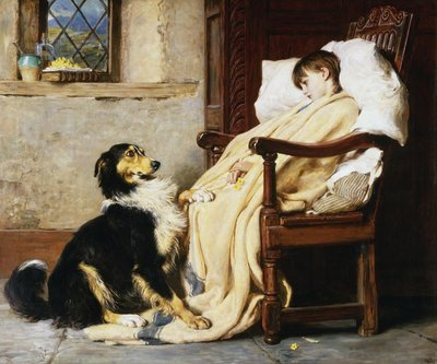 Old Playfellows Wall Art & Canvas Prints by Briton Riviere