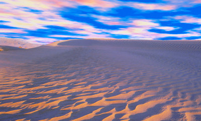 Multicolored Sky over Sand Dunes Wall Art & Canvas Prints by Cindy Kassab