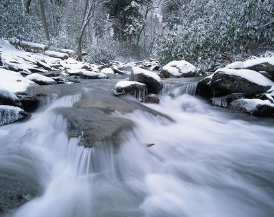 Water Flows Over Rocks in River Wall Art & Canvas Prints by Pat O'Hara