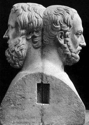 Profile Statuette of Herodotus and Thucydides Wall Art & Canvas Prints by Corbis