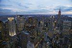 Midtown Manhattan Sparkles at Dusk Wall Art & Canvas Prints by Charlotte Johnson Wahl