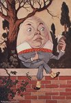 Humpty Dumpty Took the Book, and Looked at It Carefully Illustration Wall Art & Canvas Prints by Caroline Jennings