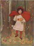 Little Red Riding Hood Illustration Postcards, Greetings Cards, Art Prints, Canvas, Framed Pictures, T-shirts & Wall Art by Isabel Oakley Naftel