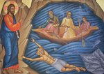 Greek Orthodox Fresco Depicting The Miracle of the Fish Postcards, Greetings Cards, Art Prints, Canvas, Framed Pictures, T-shirts & Wall Art by Anonymous