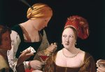 Detail of <The Cheat with the Ace of Diamonds> by Georges de La Tour Wall Art & Canvas Prints by P.J. Crook