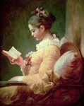 Young Girl Reading Wall Art & Canvas Prints by Anonymous