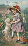 A Joyous Easter Postcard Wall Art & Canvas Prints by Kate Perugini