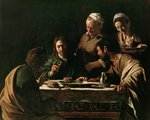 Supper at Emmaus Wall Art & Canvas Prints by Clive Uptton