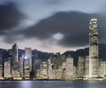 Hong Kong Skyline and financial district at dusk Postcards, Greetings Cards, Art Prints, Canvas, Framed Pictures, T-shirts & Wall Art by Assaf Frank