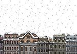 Snowfall over a city Postcards, Greetings Cards, Art Prints, Canvas, Framed Pictures, T-shirts & Wall Art by Kestutis Kasparavicius