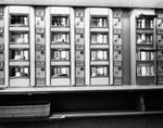 1920s 1930s 1940s 1950s series automat cafeteria vending machine windows containing cake and pie desserts Wall Art & Canvas Prints by Carol Tatham Smith