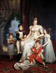 Portrait of Caroline Bonaparte and her children Postcards, Greetings Cards, Art Prints, Canvas, Framed Pictures & Wall Art by Alexander Chisholm