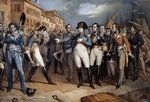 Napoleon I submitting to the British law and surrendering, 14 July 1815 Wall Art & Canvas Prints by Robert Alexander Hillingford