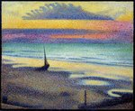 Beach at Heist Wall Art & Canvas Prints by Georges Lemmen