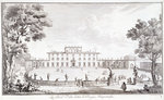 Engraving of Villa Medici After Giuseppe Zocchi Wall Art & Canvas Prints by Dirk Maes