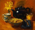 Breakfast at Debby's Postcards, Greetings Cards, Art Prints, Canvas, Framed Pictures, T-shirts & Wall Art by Jason Bowyer