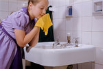 Girl Washing Her Face at Sink Wall Art & Canvas Prints by Patricia Espir