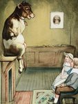 Mother Goose's Menagerie Book Illustration Wall Art & Canvas Prints by Caroline Jennings