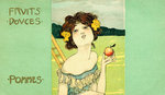 Fruits Douces: Pommes Postcard Postcards, Greetings Cards, Art Prints, Canvas, Framed Pictures & Wall Art by Clive Uptton