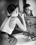 Boy Shaving at Mirror Postcards, Greetings Cards, Art Prints, Canvas, Framed Pictures, T-shirts & Wall Art by Patricia Espir