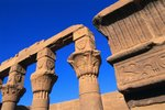 Philae Temple Column Reliefs Wall Art & Canvas Prints by William James Muller