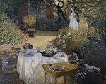 The Lunch Wall Art & Canvas Prints by Claude Monet