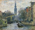 Canal, Amsterdam Postcards, Greetings Cards, Art Prints, Canvas, Framed Pictures, T-shirts & Wall Art by Camille Pissarro