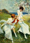 A Spring Day by the Seashore Wall Art & Canvas Prints by August Macke