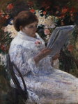 Woman Reading in a Garden Postcards, Greetings Cards, Art Prints, Canvas, Framed Pictures, T-shirts & Wall Art by Carmontelle