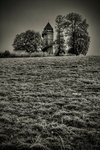 Lonesome tower 1 Fine Art Print by French School