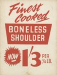 Boneless Shoulder Poster Art Print by Vintage by Hemingway
