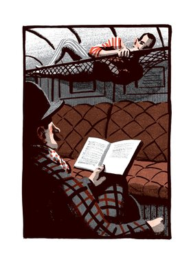 Metamorphosis and Other Stories by Franz Kafka, Illustration 7 Poster Art Print by Bill Bragg