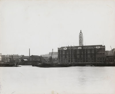 View of the South Bank between Blackfriars and Waterloo showing the Oxo Tower, London Fine Art Print by Anonymous