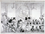 Interior view of the 'Judge and Jury Court' in the Garrick's Head Tavern, Bow Street, London Fine Art Print by Lincoln Seligman