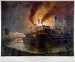 Destruction of the Armoury in the Tower of London by fire, 30 October 1841 Fine Art Print by Gustave Dore