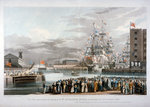The opening of St Katharine's Dock, London Wall Art & Canvas Prints by William Francis Phillipps