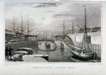 View of London Docks looking west, Wapping Postcards, Greetings Cards, Art Prints, Canvas, Framed Pictures, T-shirts & Wall Art by Joseph Mallord William Turner