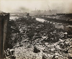 Scene at Silvertown following an explosion in a munitions factory, London, World War I Fine Art Print by English Photographer