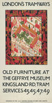 Old Furniture At The Geffrye Museum, London County Council (LCC) Tramways poster Fine Art Print by Tony Todd