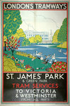 St James' Park, London County Council (LCC) Tramways poster Fine Art Print by Emily Stannard