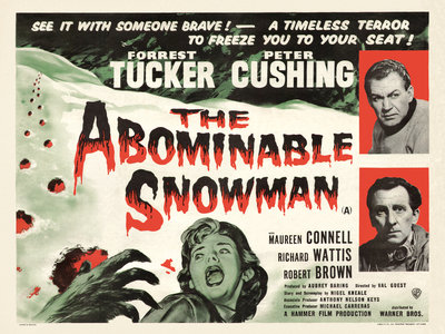THE ABOMINABLE SNOWMAN (aged) Poster Art Print by Anonymous