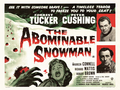 THE ABOMINABLE SNOWMAN (restored) by Anonymous - print