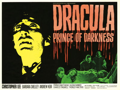 DRACULA PRINCE OF DARKNESS (restored) Wall Art & Canvas Prints by Tom Chantrell
