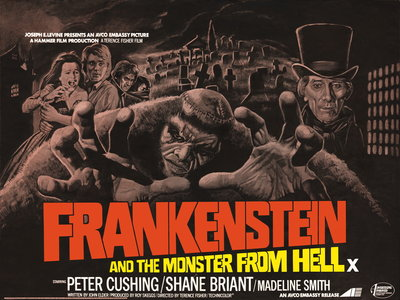 FRANKENSTEIN AND THE MONSTER FROM HELL (restored) by Bill Wiggins - print