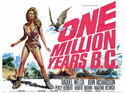 ONE MILLION YEARS B.C. (restored) Wall Art & Canvas Prints by Tom Chantrell