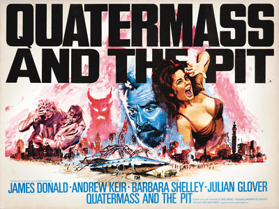 QUATERMASS AND THE PIT (aged) Fine Art Print by Tom Chantrell